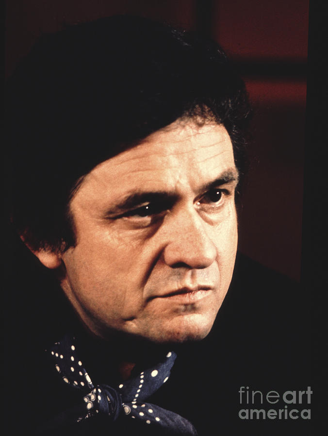 Johnny Cash Photograph - Johnny Cash The Man In Black by Chris Walter