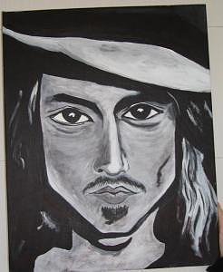 Johnny D Painting by Jessica  Regan