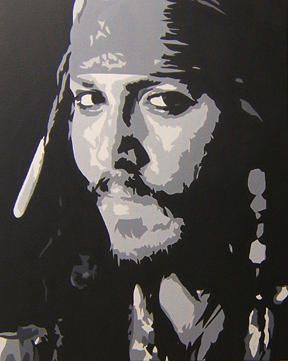 Johnny Depp Painting - Johnny Depp - Sold by Michael James Toomy