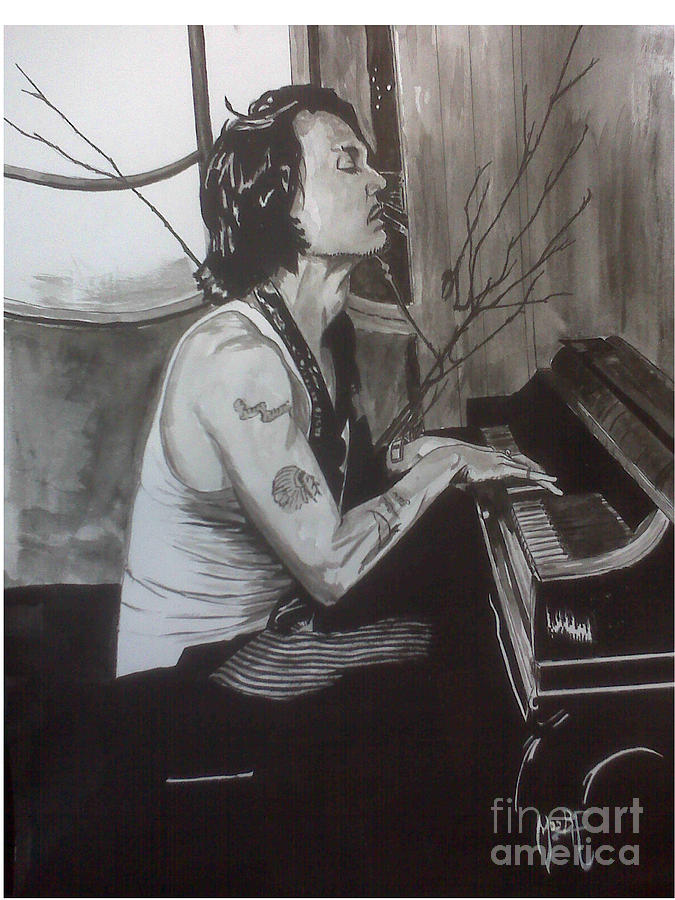Justin Moore Painting - Johnny Depp 1 by Justin Moore