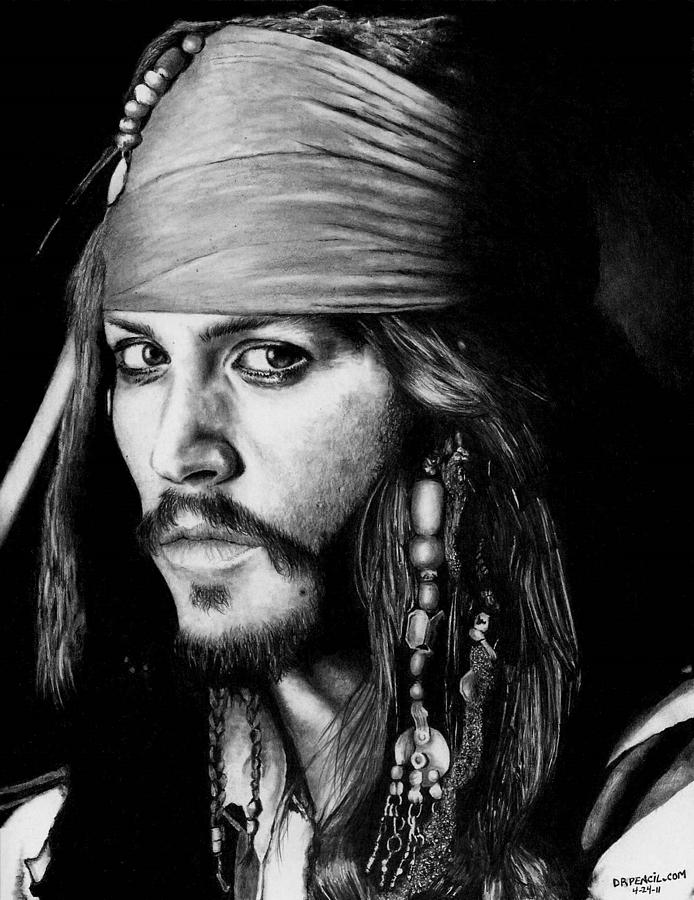 Johnny Depp as Jack Sparrow by Rick Fortson