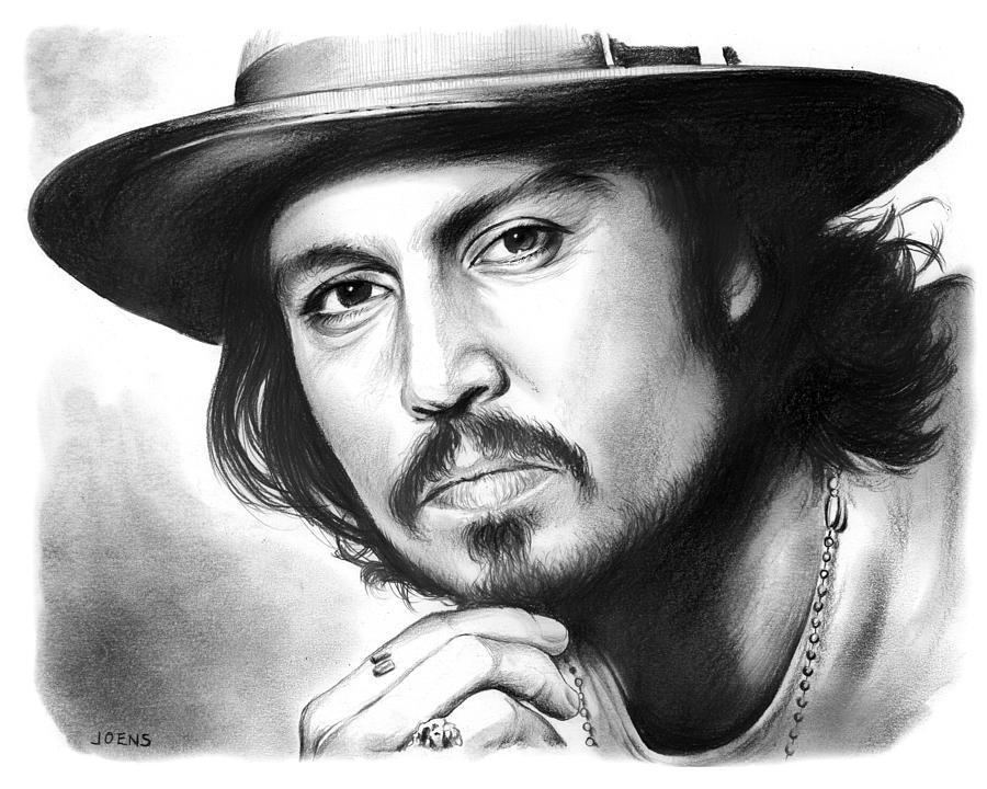 Johnny Depp Drawing - Johnny Depp by Greg Joens
