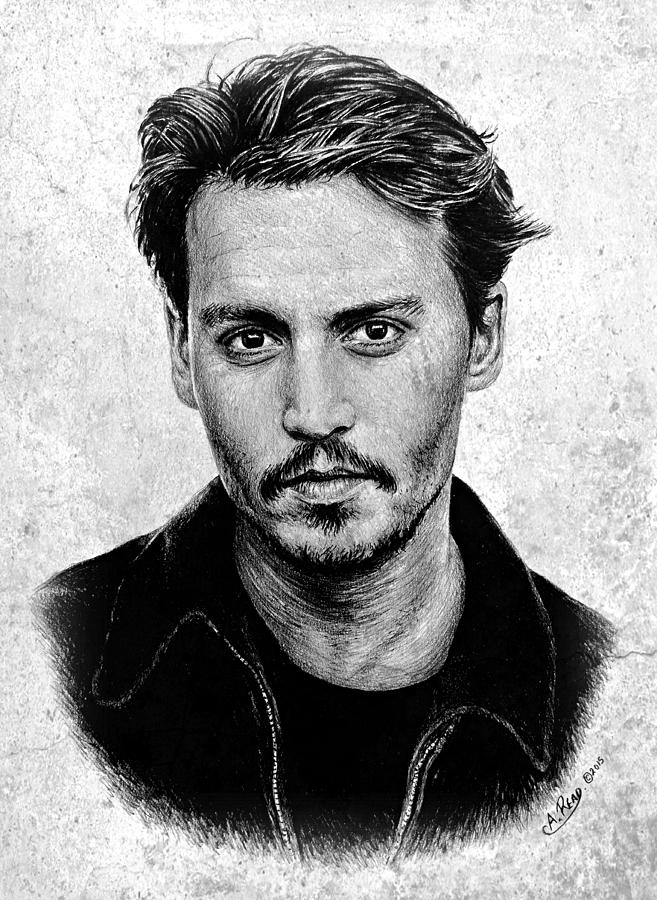 Johnny Depp Grey Specked Ver Drawing