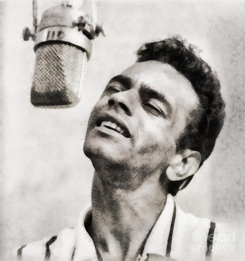 Johnny Mathis, Music Legend By John Springfield Painting