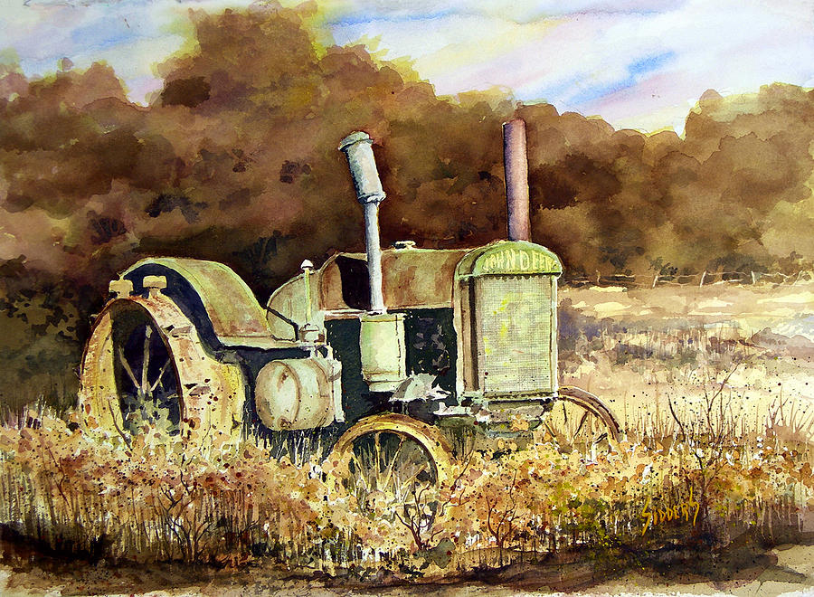 Tractor Painting - Johnny Popper by Sam Sidders
