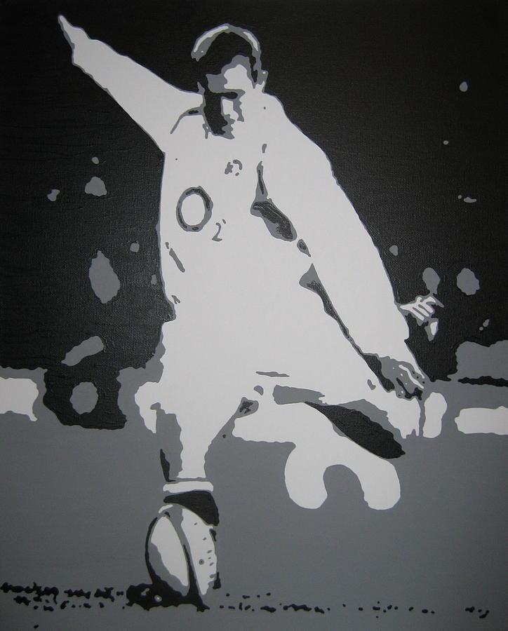 England Painting - Johnny Wilkinson by Dan Carman