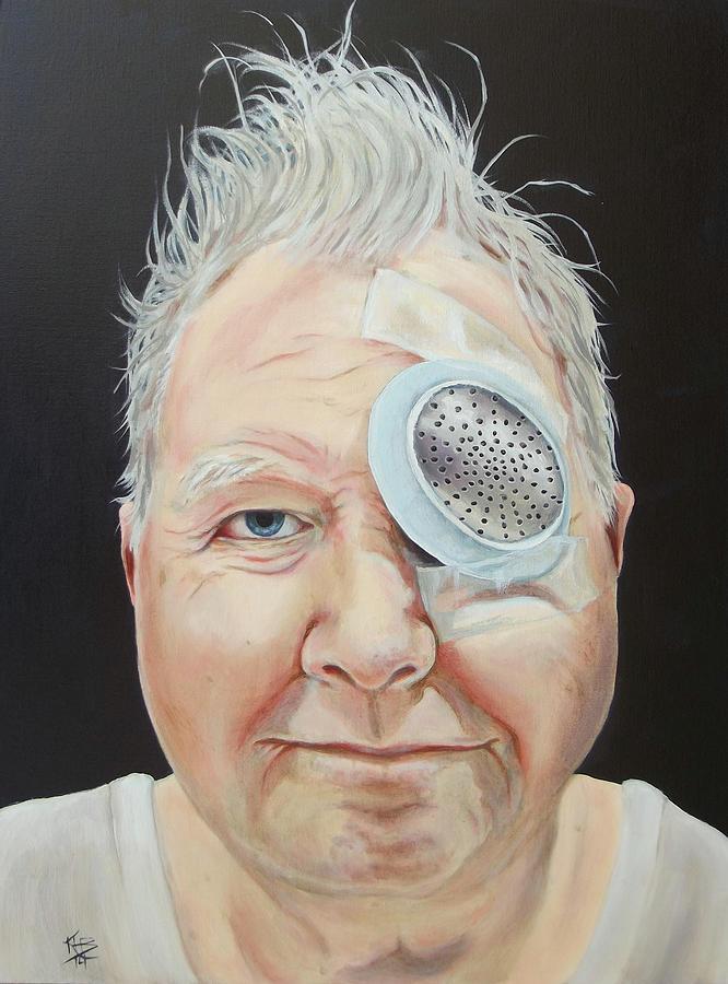 Eye Surgery Painting - Johns Eye Surgery by Kirsten Beitler