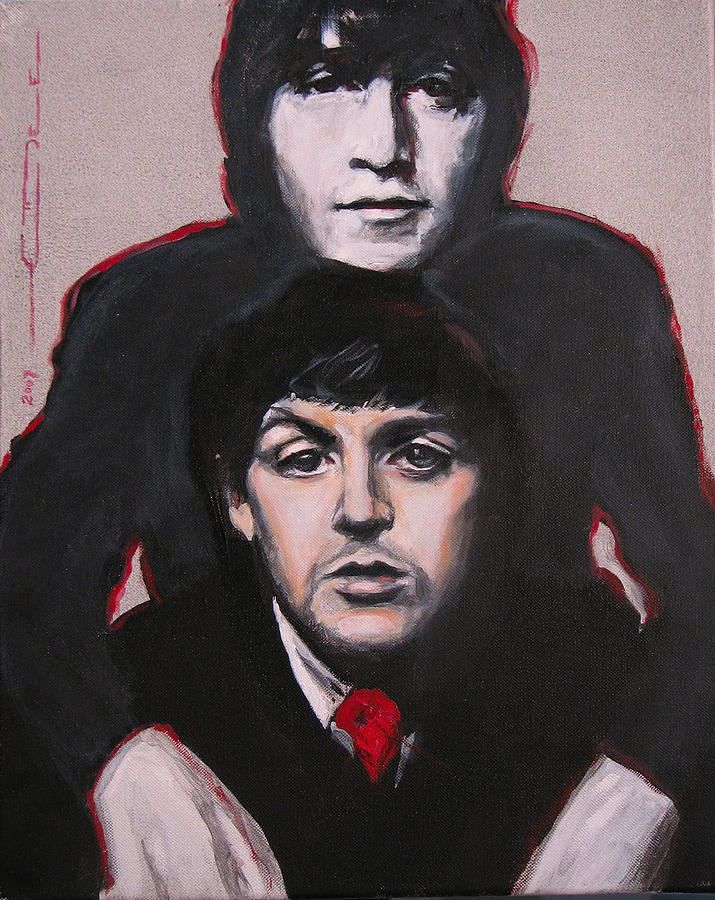 The Beatles Painting - Johns Ghost by Eric Dee