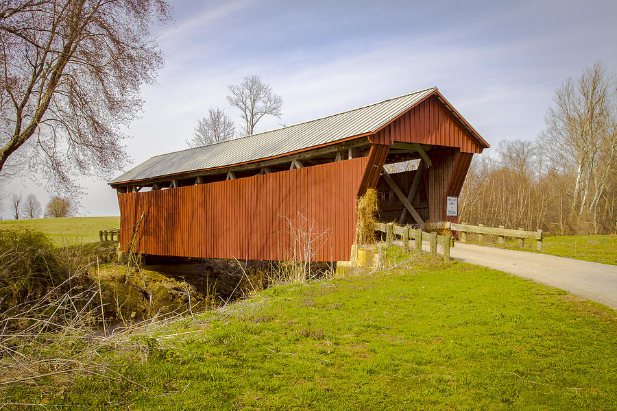 Johnson Road/crabtree Covered Bridge Photograph
