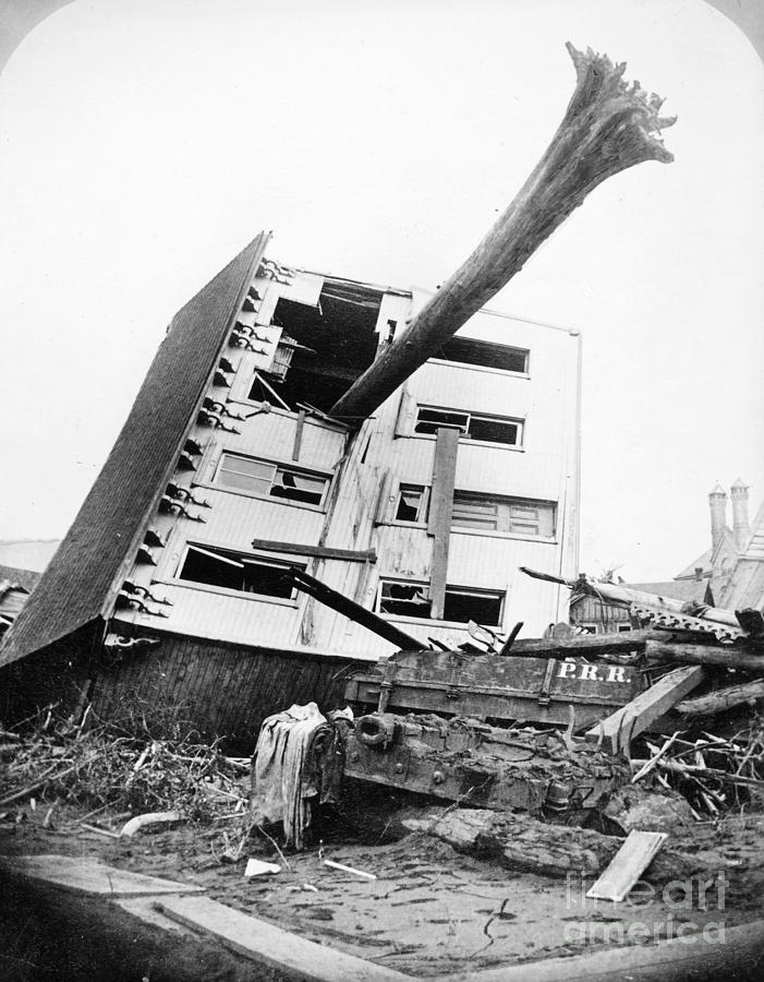 1889 Photograph - Johnstown Flood, 1889 by Granger