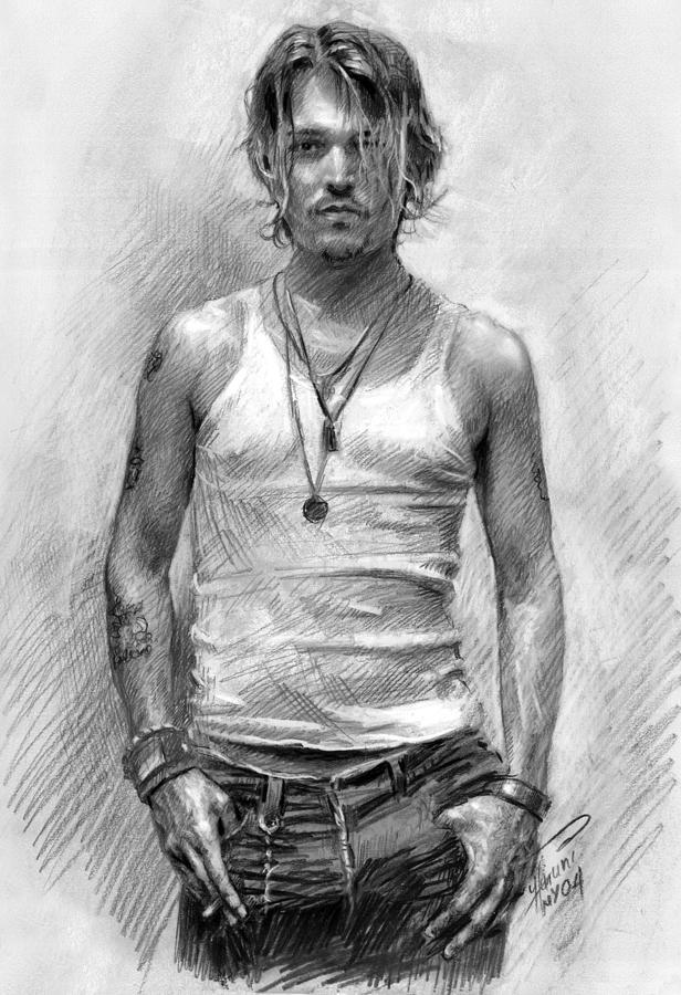 Johny Depp Drawing - Johny Depp by Ylli Haruni