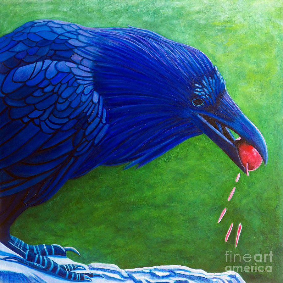 Raven Painting - Joie De Vivre by Brian  Commerford