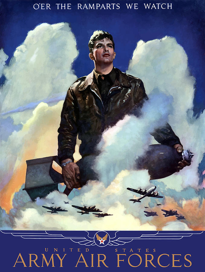 Air Force Painting - Join The Army Air Forces by War Is Hell Store
