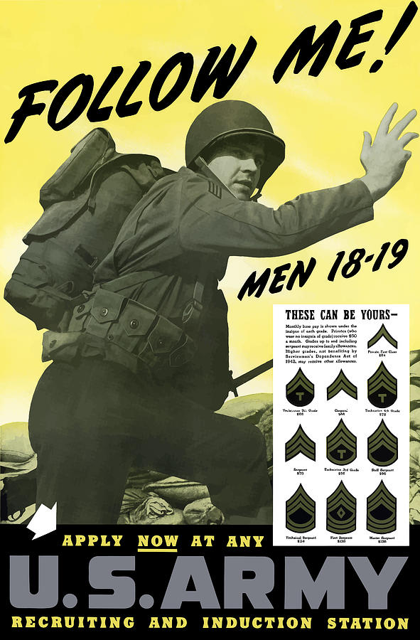 Army Painting - Join The Us Army - Follow Me by War Is Hell Store