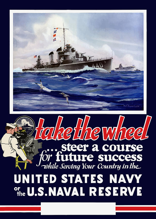 Navy Painting - Join The US Navy - WW2 by War Is Hell Store