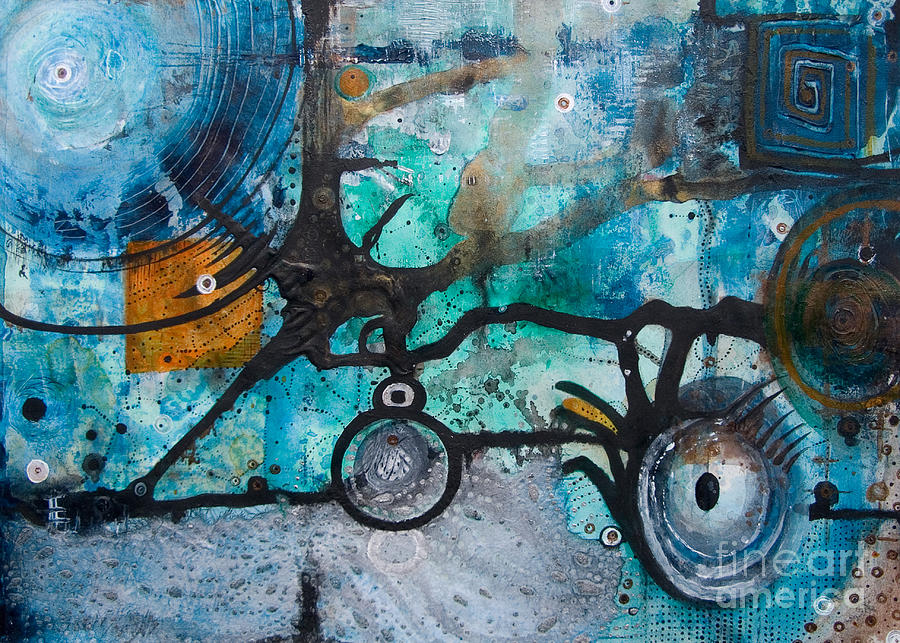 Abstract Painting - Joining The Dots by Jay Taylor