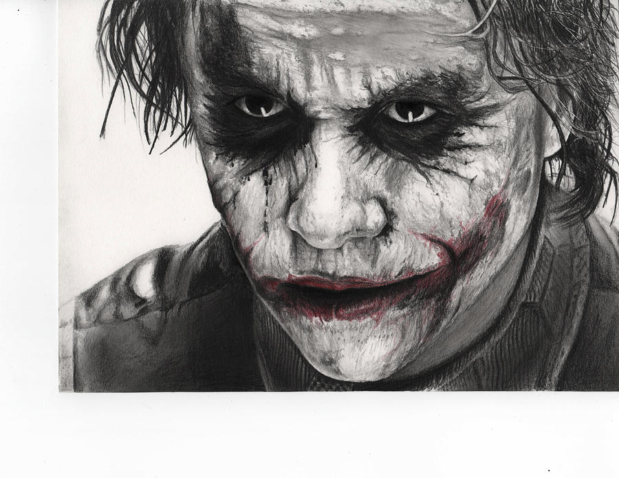 Joker Face Drawing By James Holko