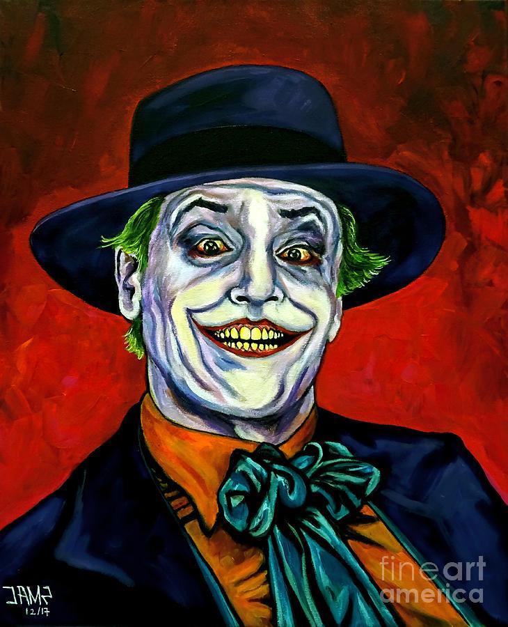 Joker Painting - Joker by Jose Mendez