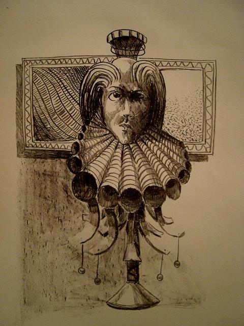 Portrait Drawing - Joker by Kamalky Laureano