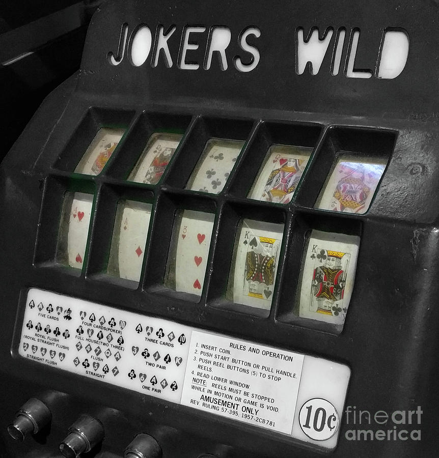 Slot Machines Photograph - Jokers Wild  by Steven Digman