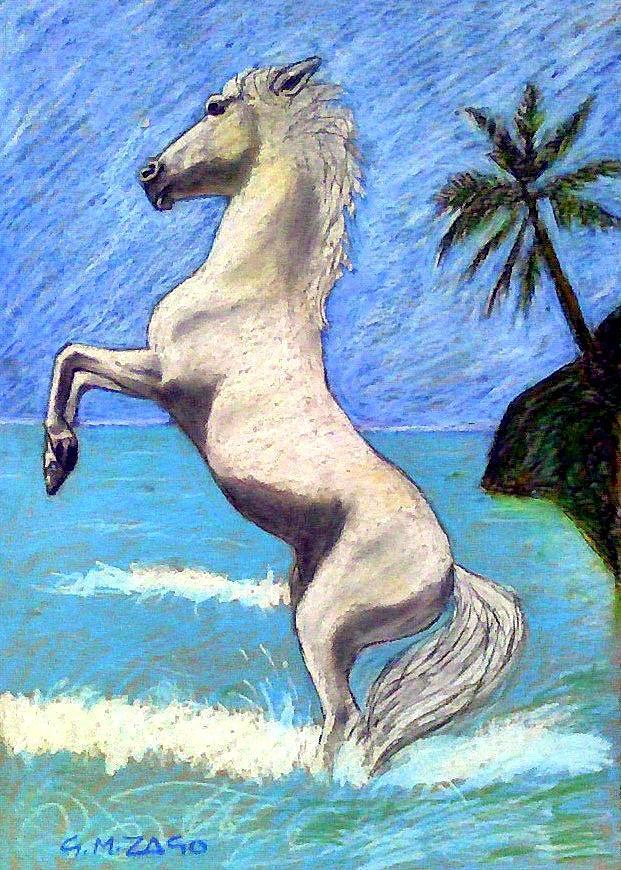 Horse Painting - Jokeys Dream by Gianantonio Zago Marino