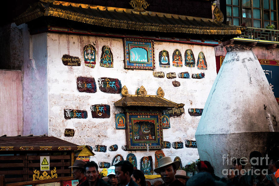 Tibet Photograph - Jokhang Temple Wall Lhasa Tibet Artmif.lv by Raimond Klavins