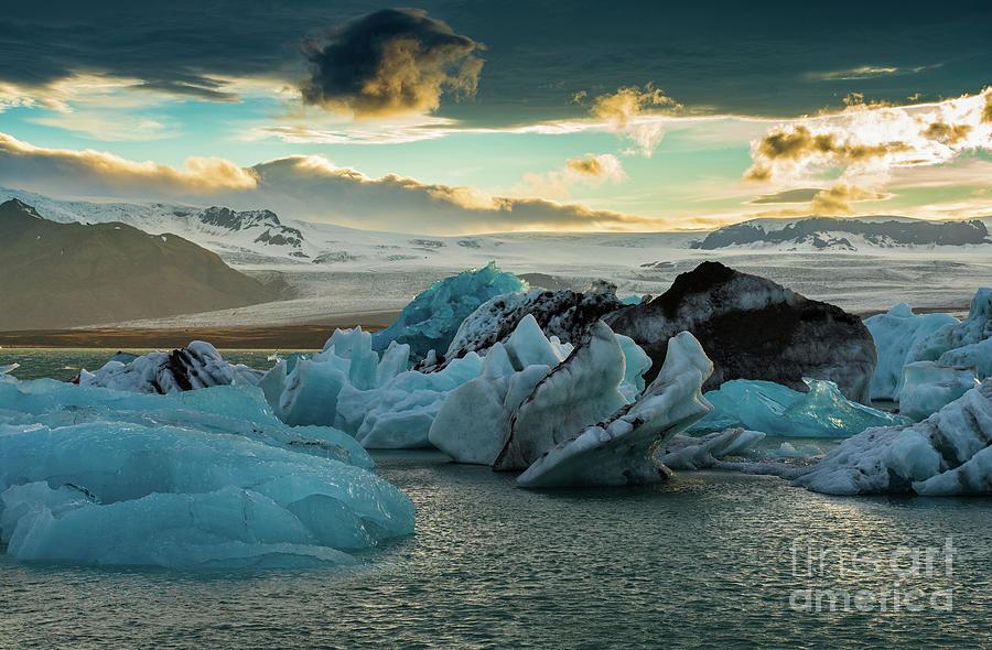 Iceland Photograph - Jokulsarlon Ice Lagoon Landscape Of Ice  by Mike Reid