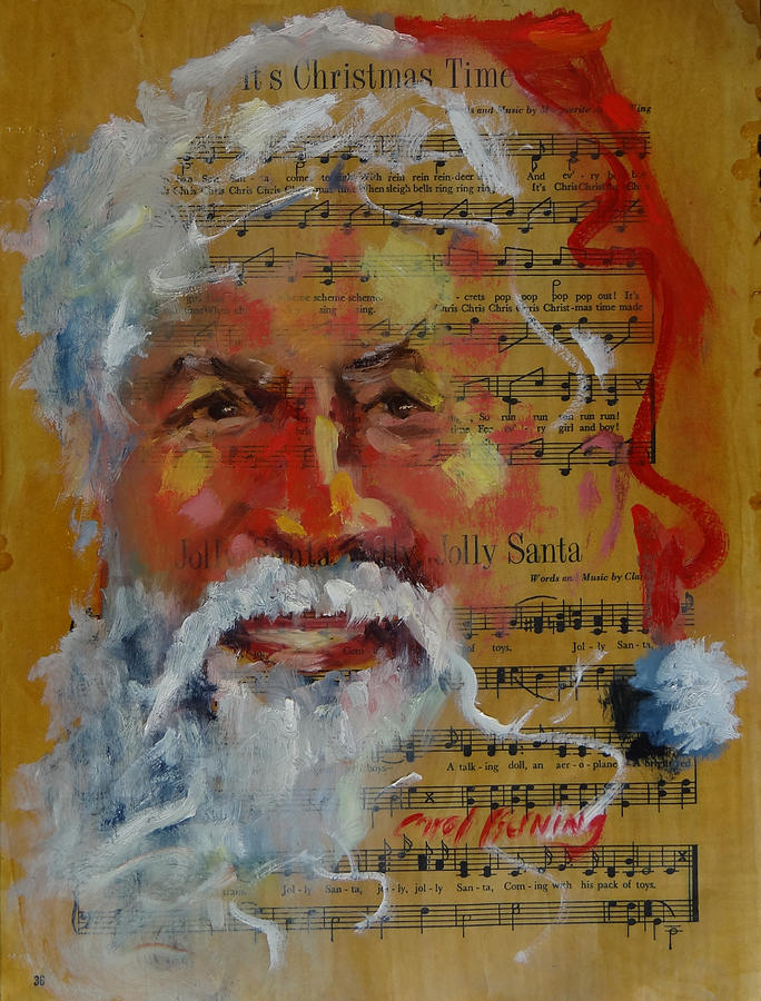 Jolly Santa by Carol Berning