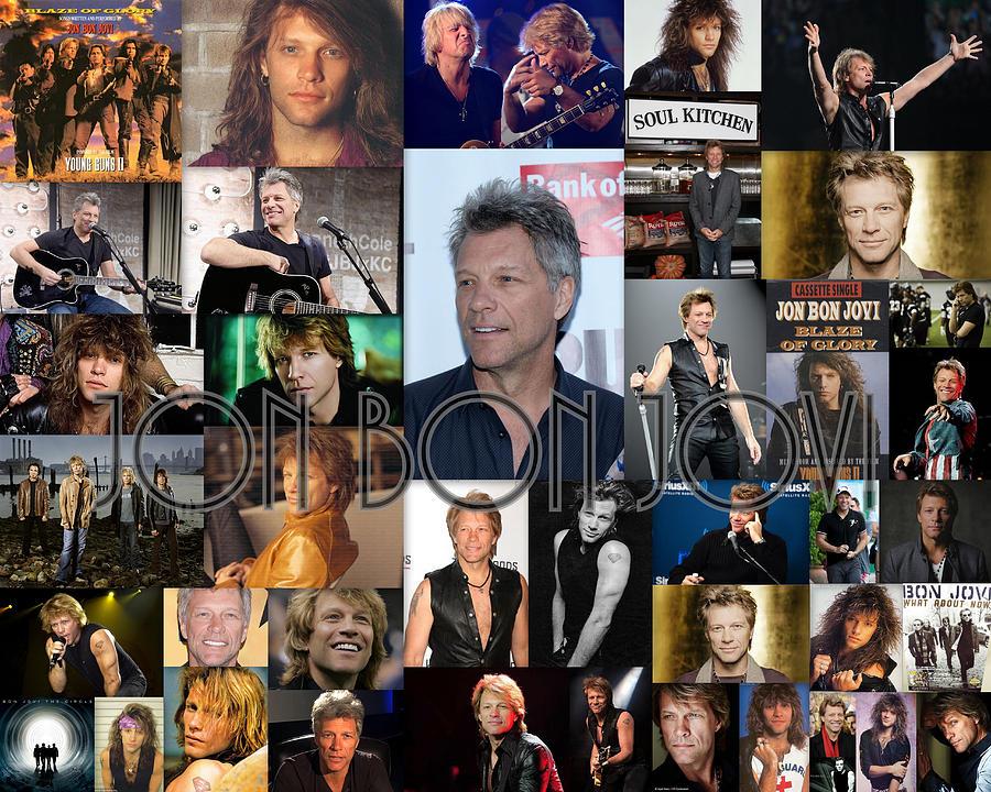 Jon Bon Jovi Collage by April Cook