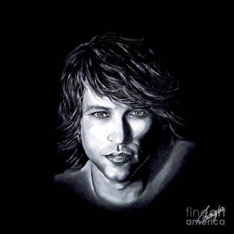 Jon Bon Jovi Painting - Jon Bon Jovi - Its My Life by Francesca Agostini