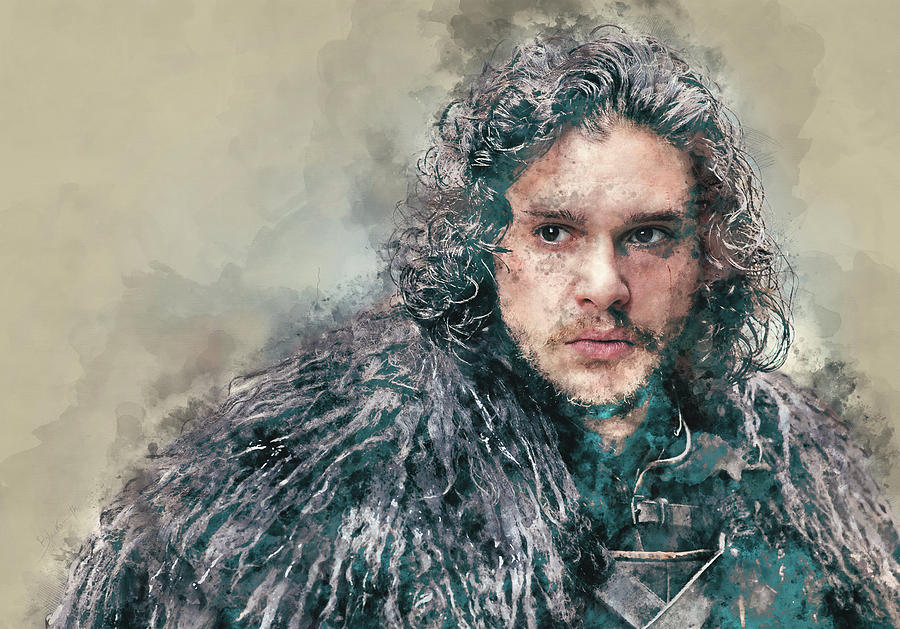 Jon Snow, Game Of Thrones Painting
