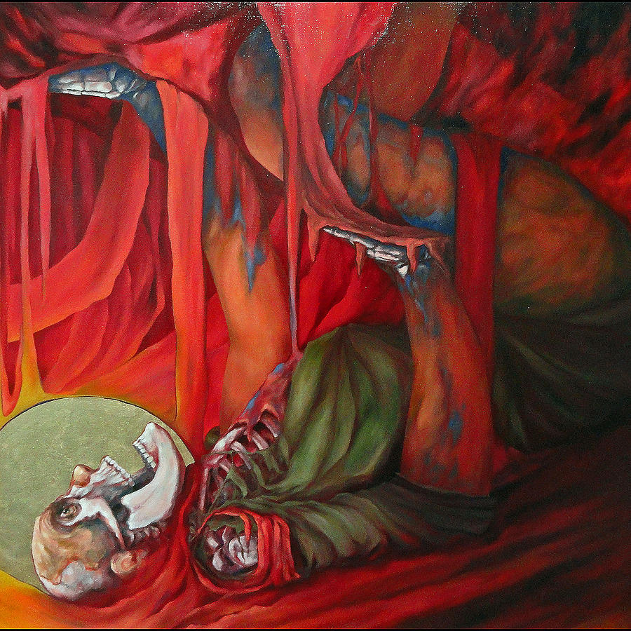 Jonah Inside The Whale Painting by Kevin Davidson