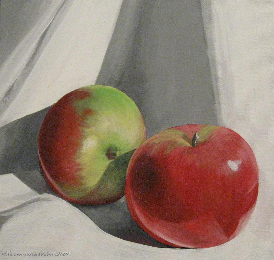 Apples Painting - Jonah Macs by Sharon Marcella Marston