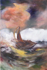Religious Painting - Jonah by Marty Smith