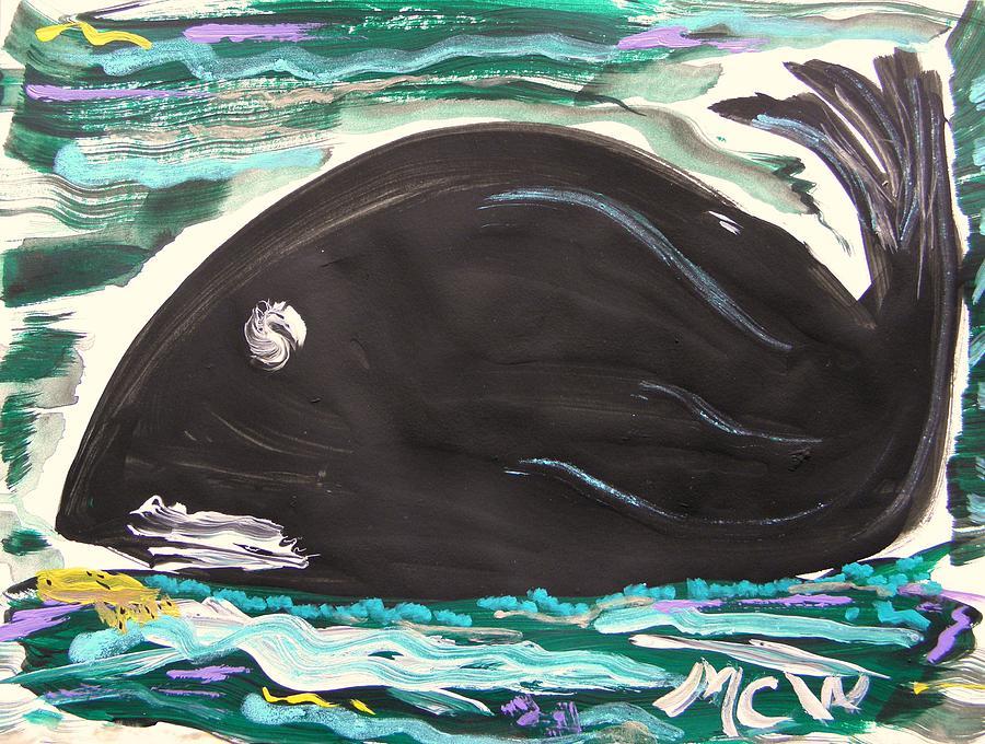 Fish Painting - Jonahs Friend by Mary Carol Williams