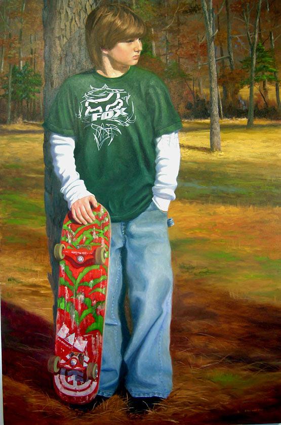 Portrait Painting - Jonathan by Pat Aube Gray