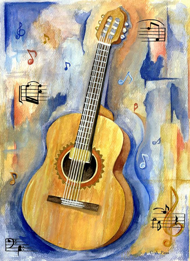 jonathan 39 s guitar painting by cheryl pass
