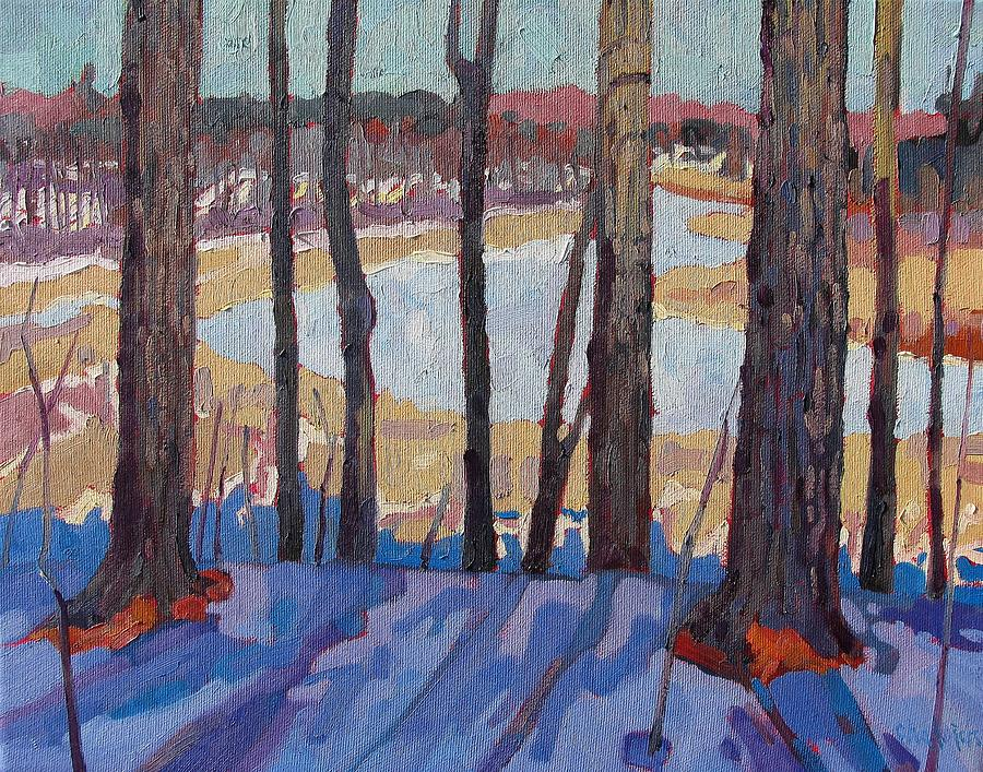 959 Painting - Jones Creek Morning by Phil Chadwick