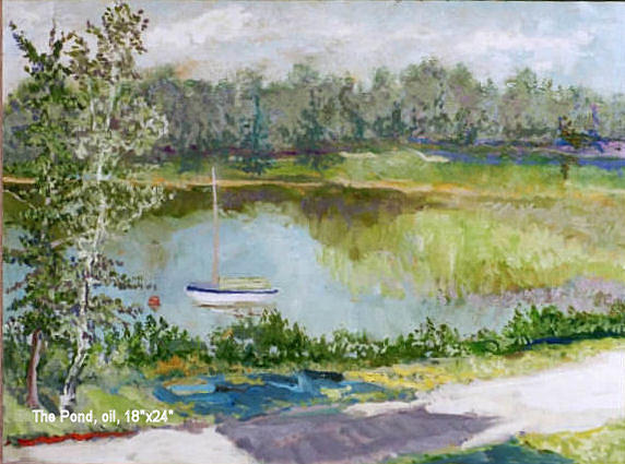 Landscape Painting - Jones Pond by Jim Innes