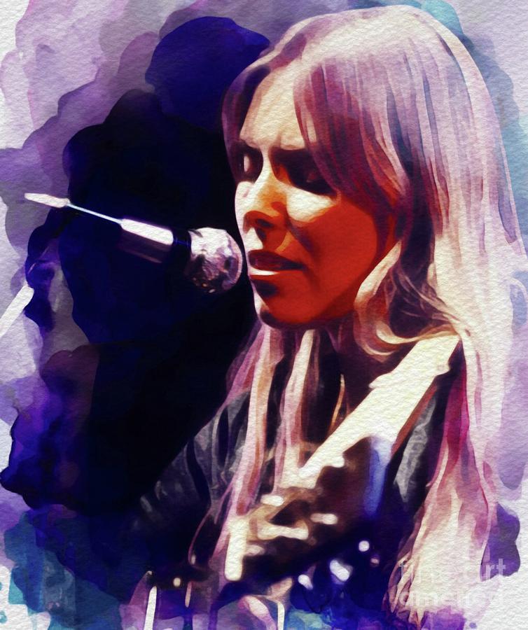 Joni Mitchell, Music Legend Painting