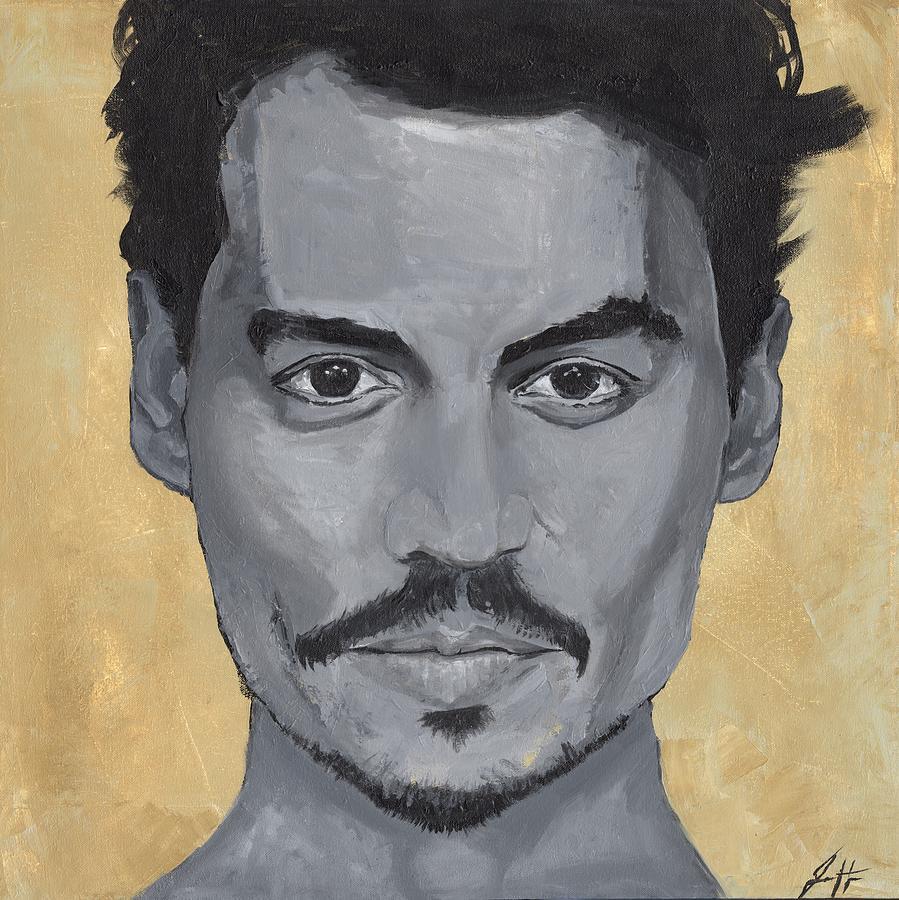 Celebrity Painting - Jonny Depp  by Jonathan Hanks