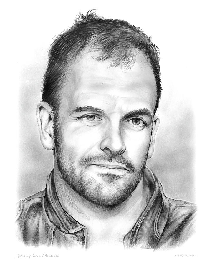 Jonny Lee Miller Drawing - Jonny Lee Miller by Greg Joens
