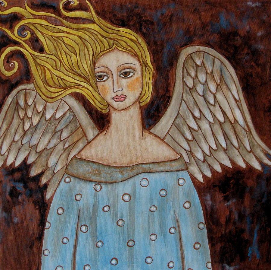 Acrylic Painting - Jophiel by Rain Ririn