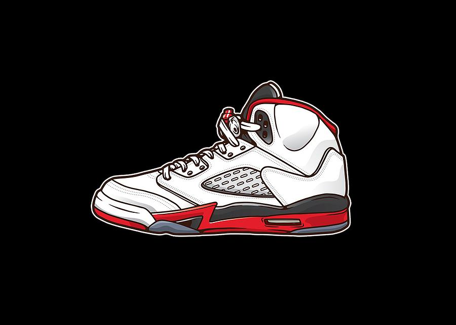 lowest price 8ff08 c4361 Jordan 5 Shoes Vector