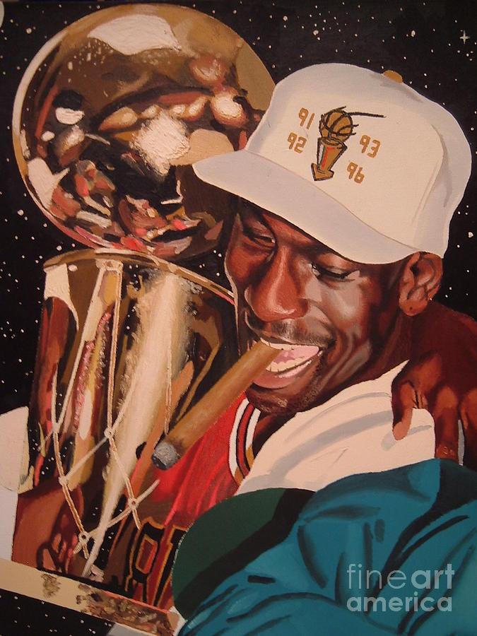 Michael Jordan Painting - Jordan by Brandon Ramquist