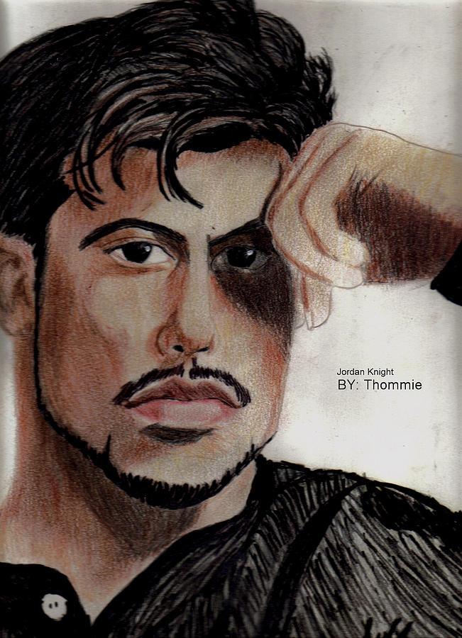 Portrait Drawing - Jordan Knight by Thomasina Marks