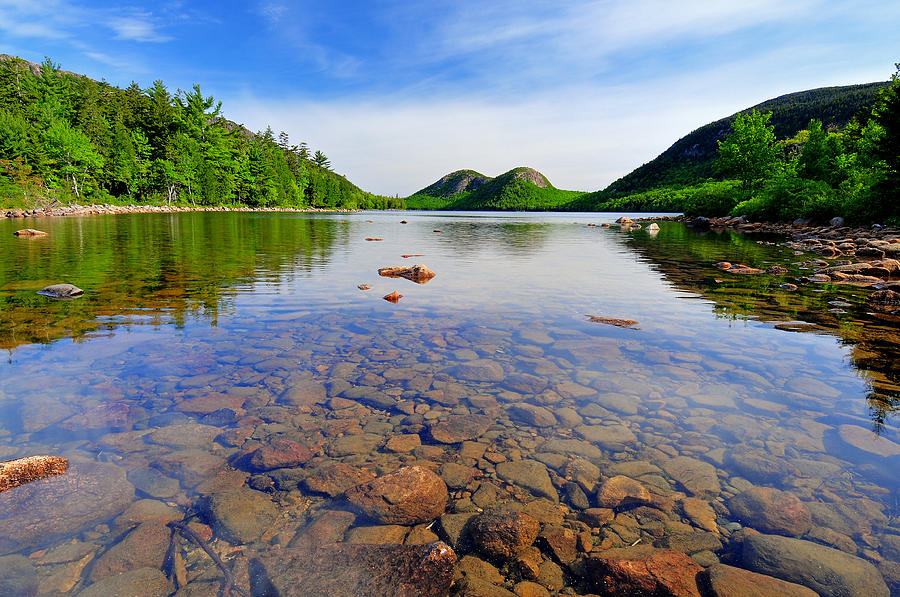 Acadia National Park Photograph - Jordan Pond And The Bubbles by Thomas Schoeller