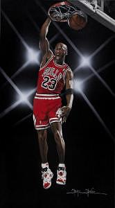 Sports Painting - Jordan by Shane Stover
