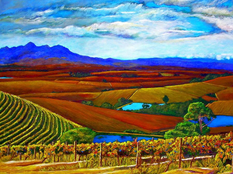 Vineyard Painting - Jordan Vineyard by Michael Durst