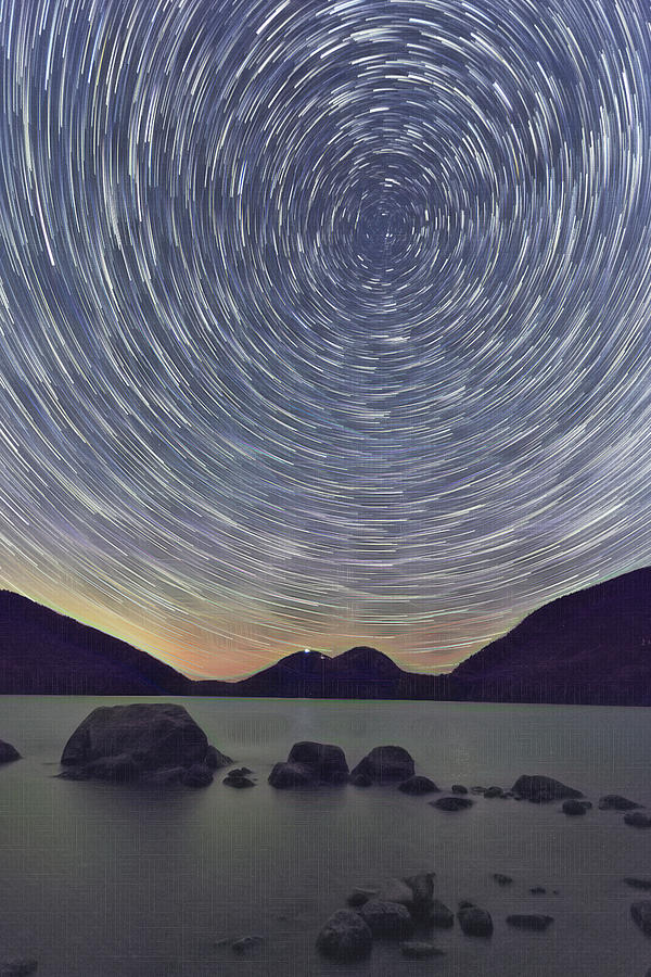 Jordon Pond Star Trails by Natalie Rotman Cote